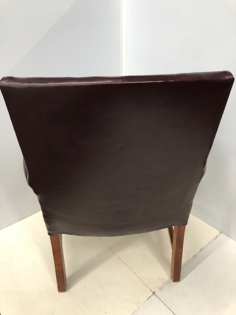 Burgundy Leather Guest Chair