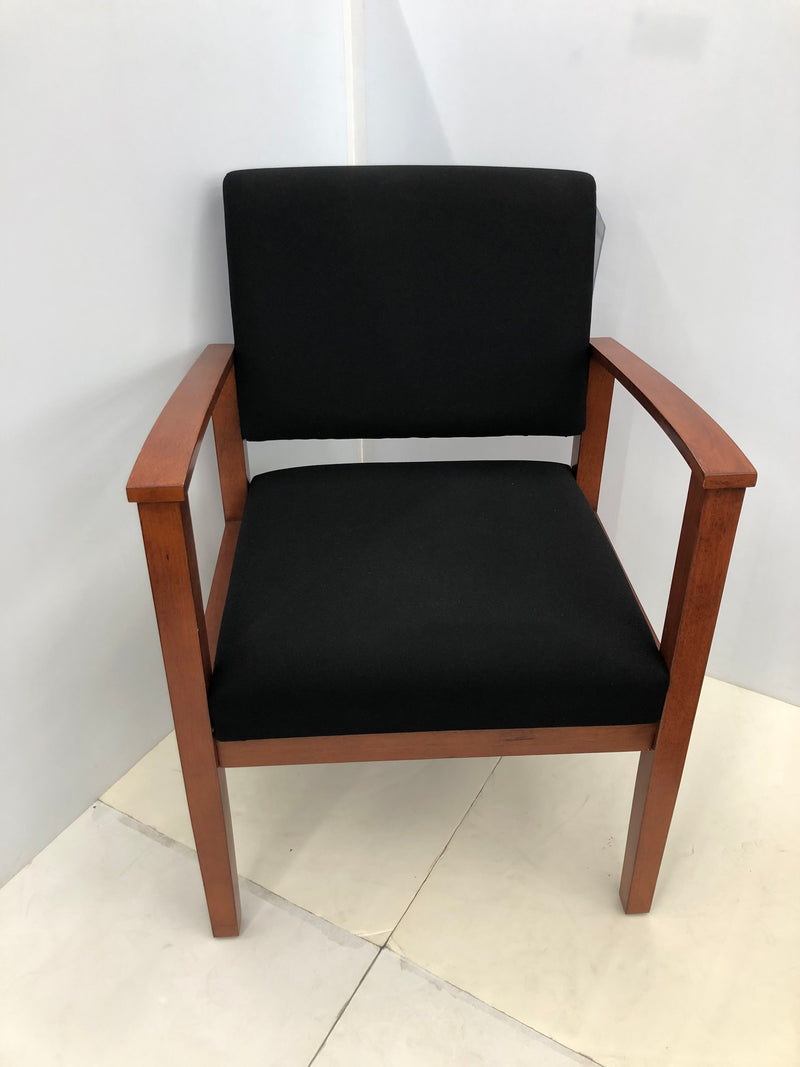 Designer Guest Chair in Black Fabric