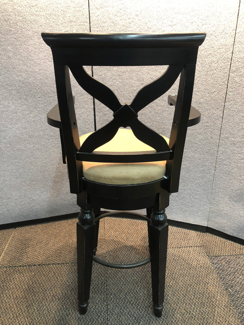 Cafe Height Bar Stool with Suede Seat
