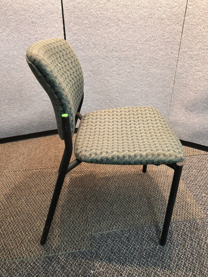 Guest Chair in Green Pattern Fabric