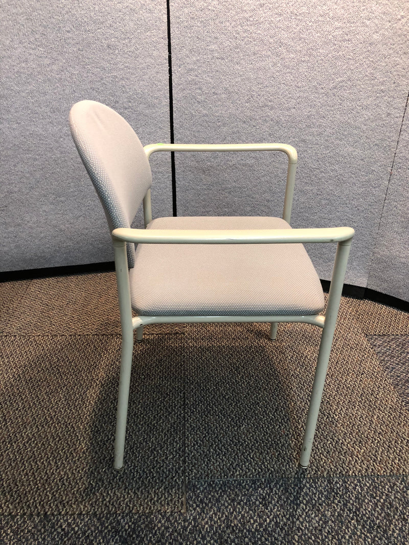 Guest Chairs in Grey Fabric with arms