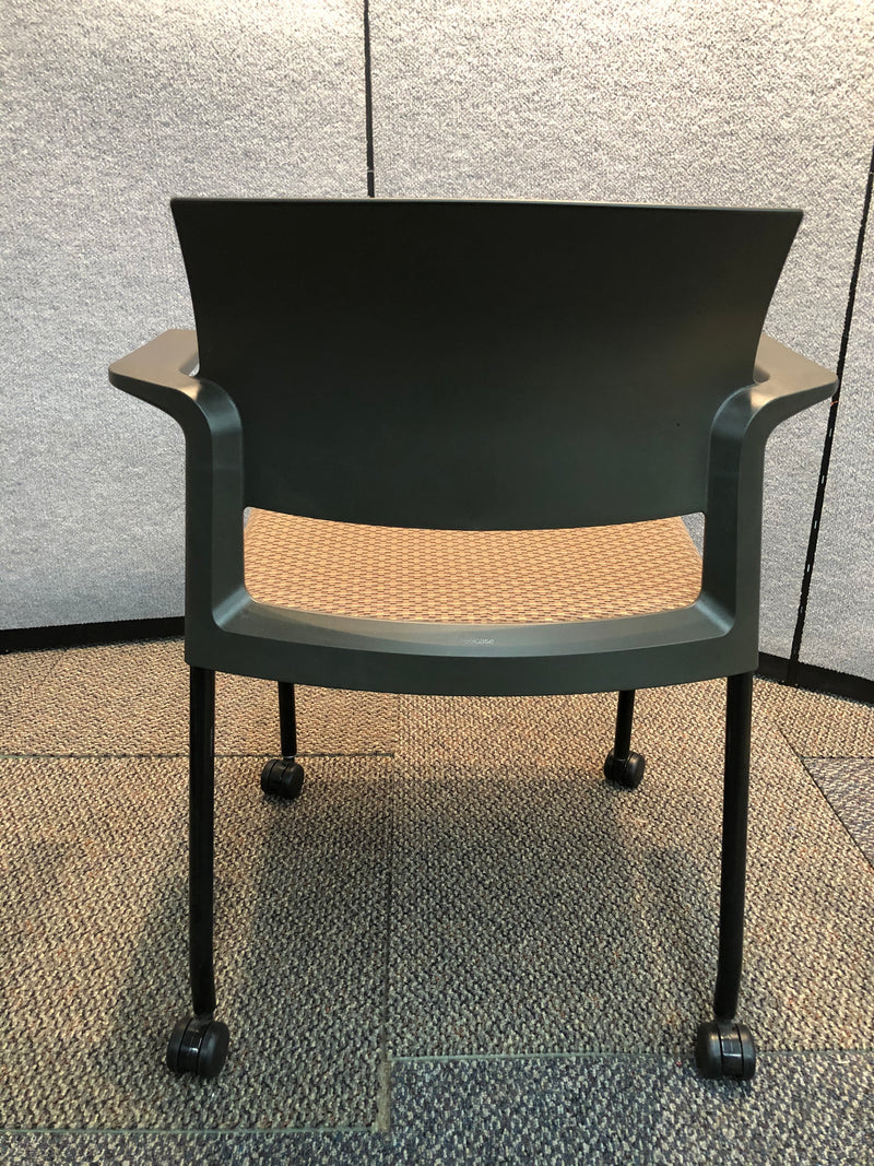 Guest Chair Steelcase Brown Fabric