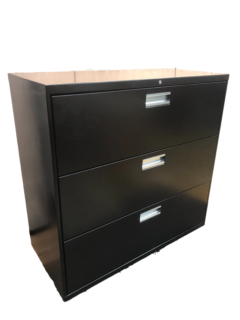 Black 3 Drawer Lateral File
