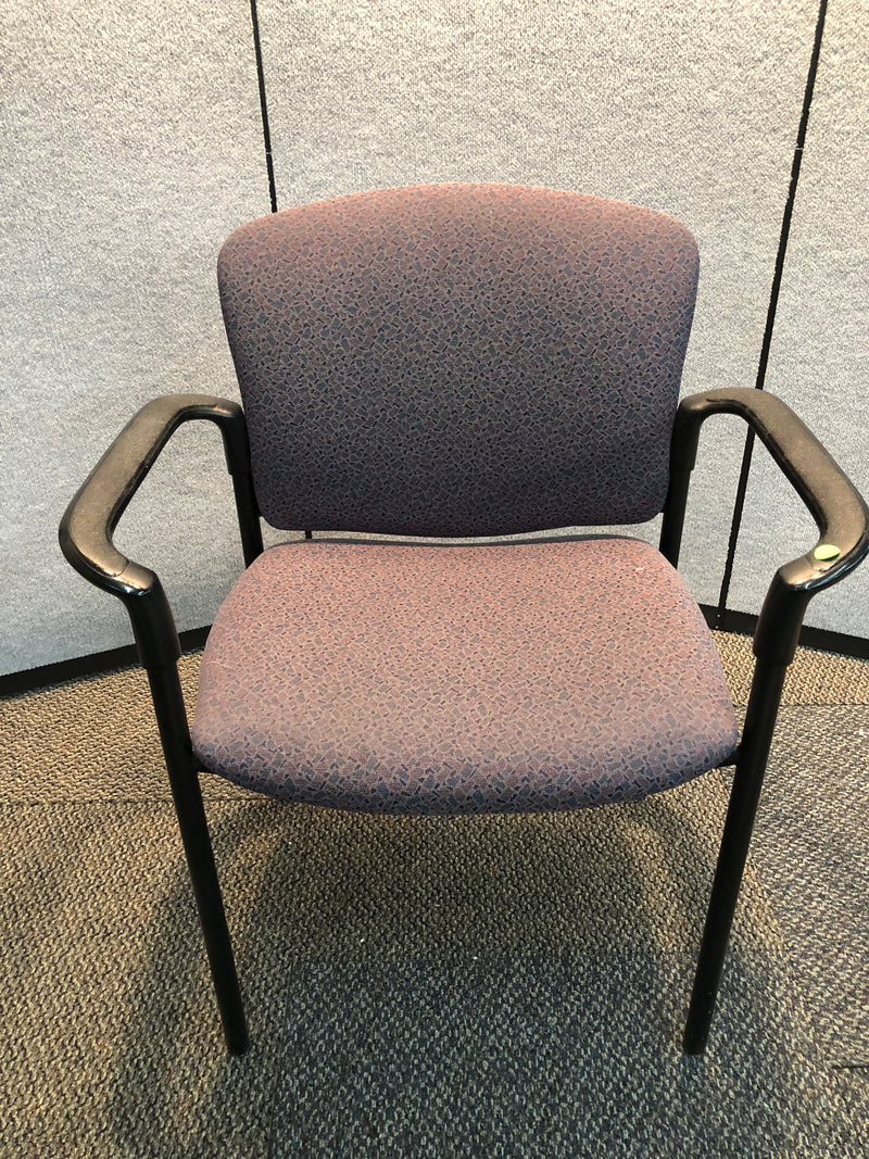 Hon Guest Chair in Multicolor Fabric and Arms