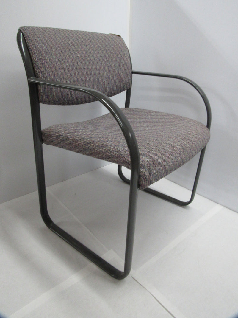 Gray Fabric/Metal Frame Matching Guest Chairs