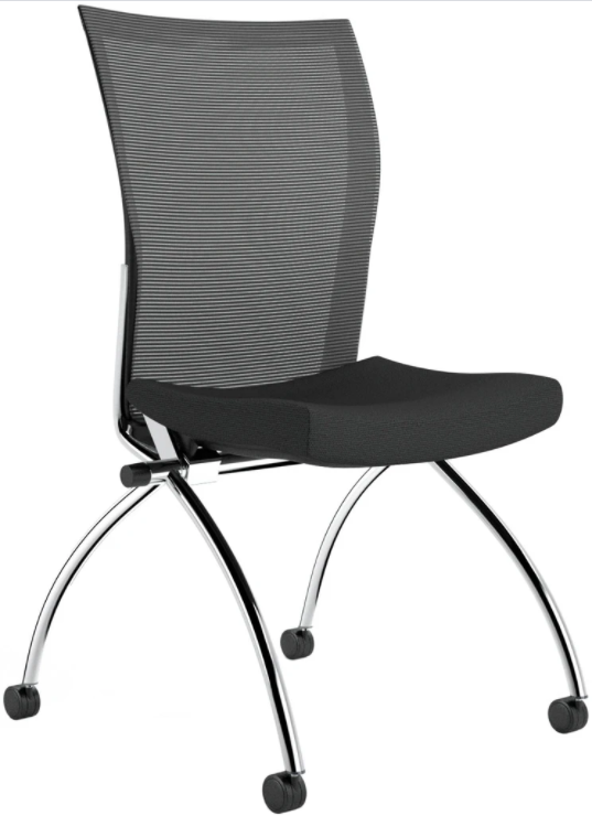Mayline Valore Armless Mesh Back Nesting Chair