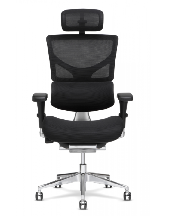 X-Chair - X-3 - Black Mgmt With Headrest And Heat Massager