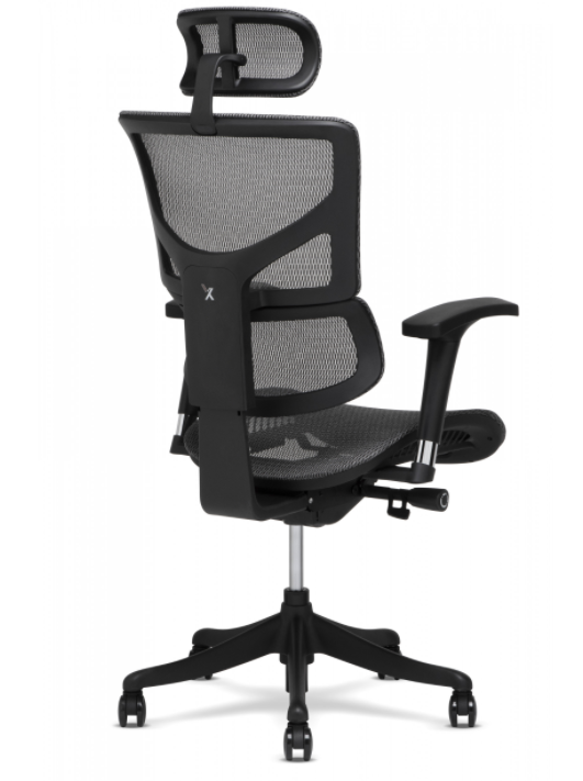 X-Chair - X-1-Grey Flex Mesh Task Chair With Headrest