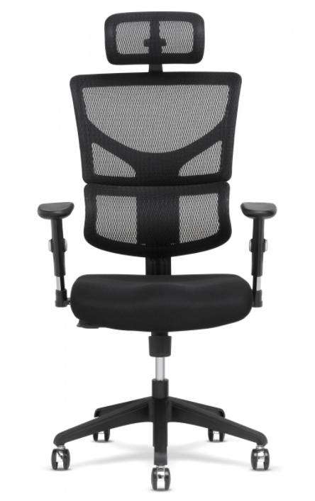 X-Chair - X-Basic Black DVL Task Chair With Headrest