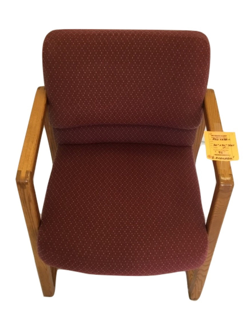 Red Fabric Guest Chair