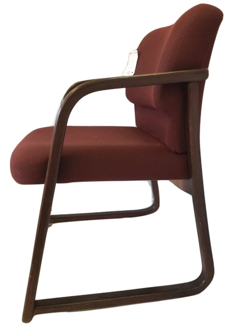 Red Fabric Reception Chair