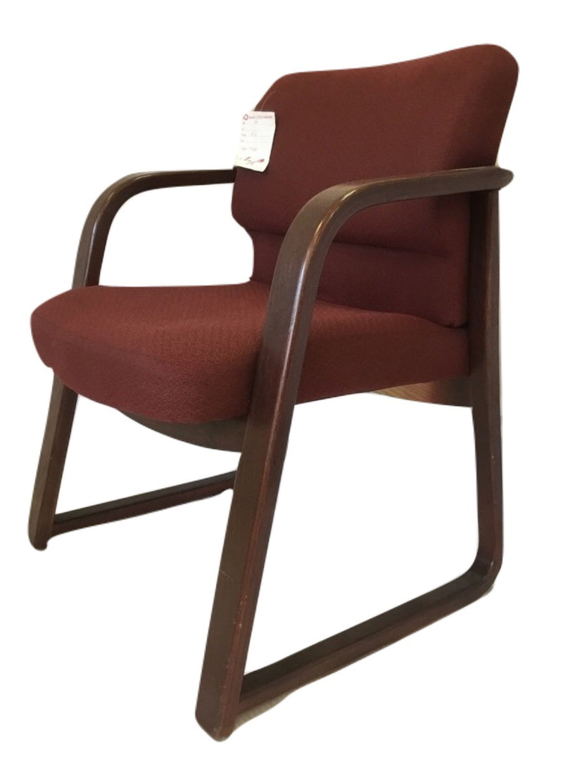Red Fabric Reception Chair - Value Office Furniture & Equipment