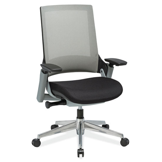 Office Source Mid Back Mesh Chair with Two-Tone Frame and Aluminum Base
