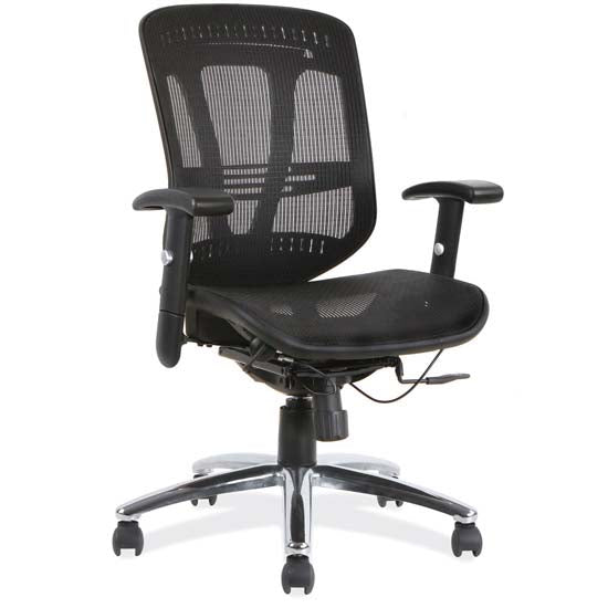 Office Source Mesh Mid Back Task Chair With Chrome Frame