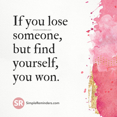 If you lose someone
