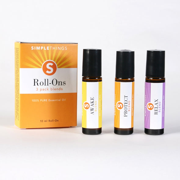 3 Pack of Essential Blends 100% Pure Essential Oils 10ml Roll On Bottles