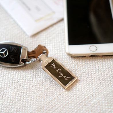 Be Royal Chrome Key Ring