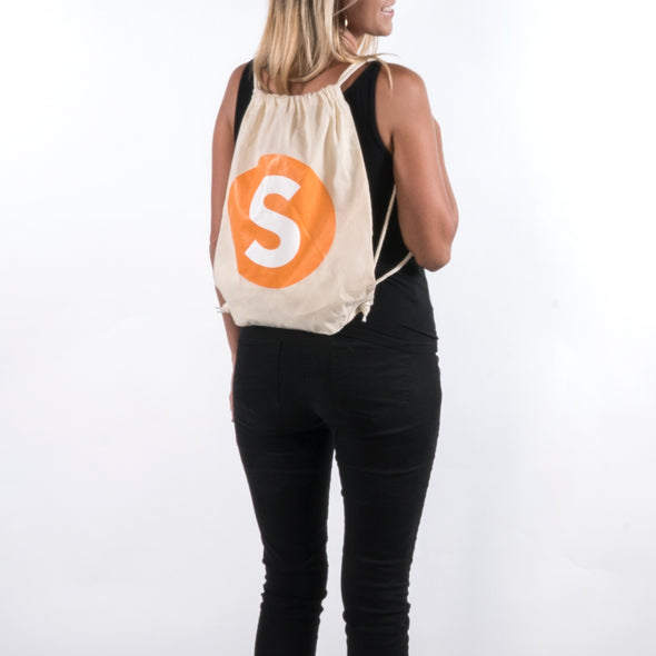 Simple Things Natural Drawcord Backpack
