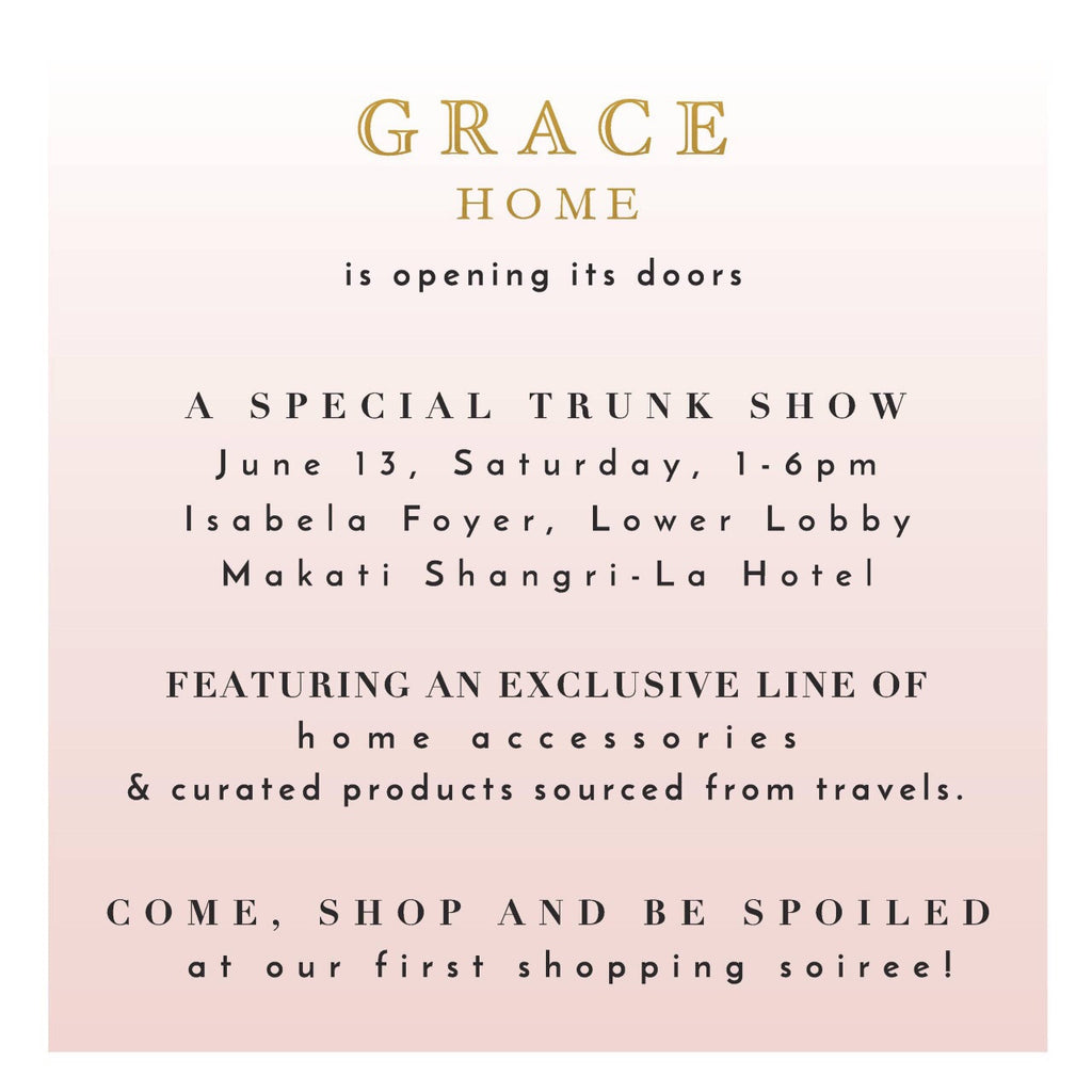 Grace Home's First Trunk Show: An Invitation