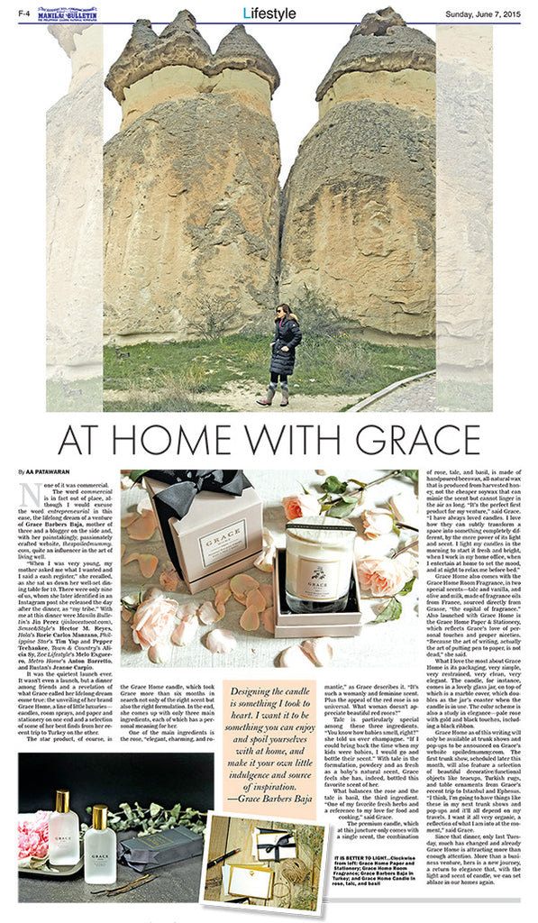 Grace Home on Manila Bulletin Lifestyle