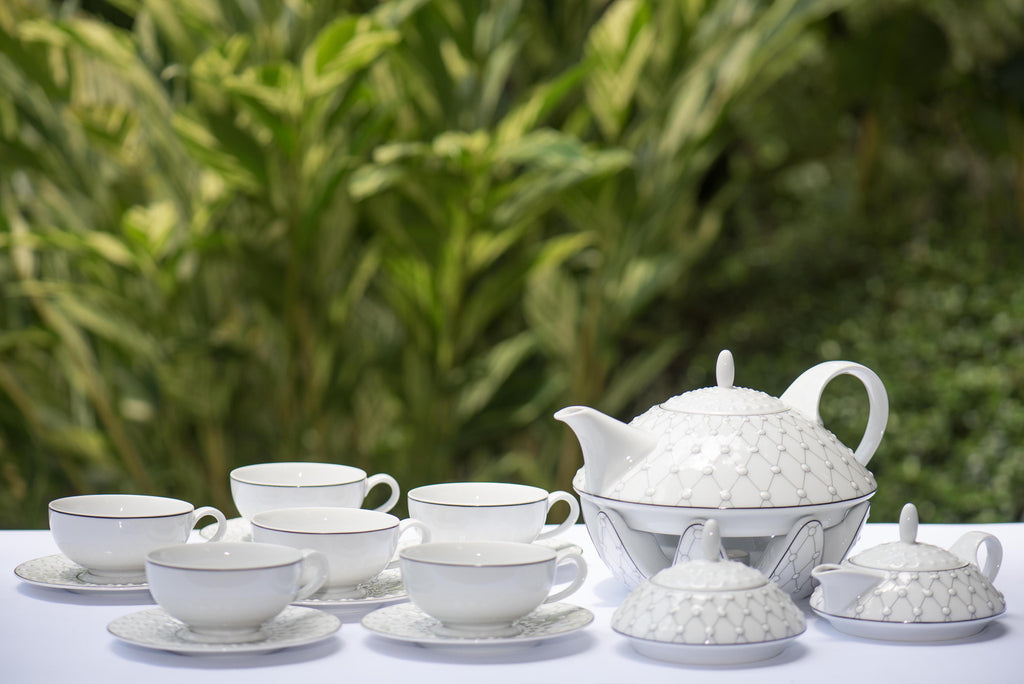 Capri tea set white