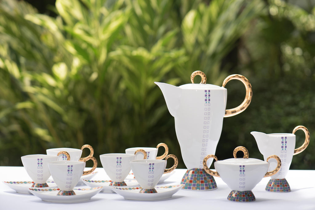 Venezia Tea Set White Gold