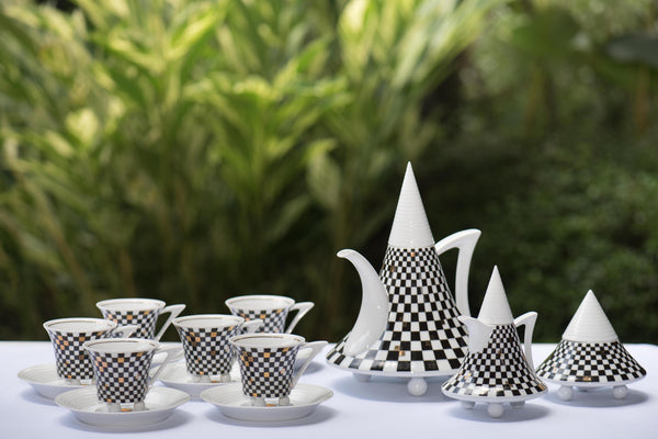Cappadocia Tea Set Black White