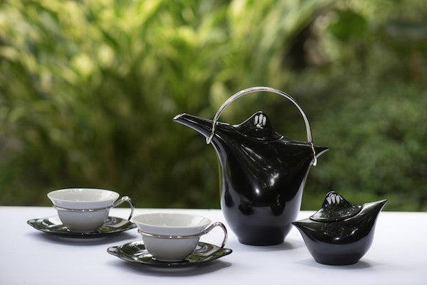 Zen Tea Set Black White