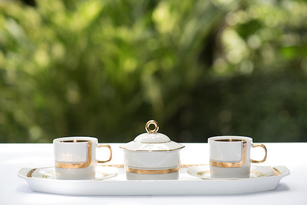 Kate Tea Set White Gold