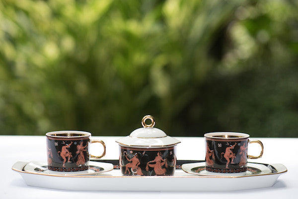 Venus Tea Set Gold Black