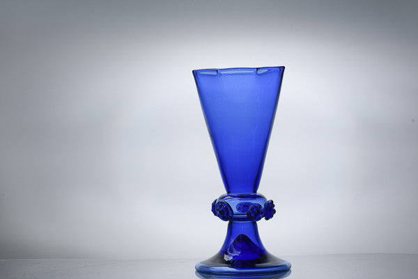 Dark Blue Bohemian Handblown Glassware