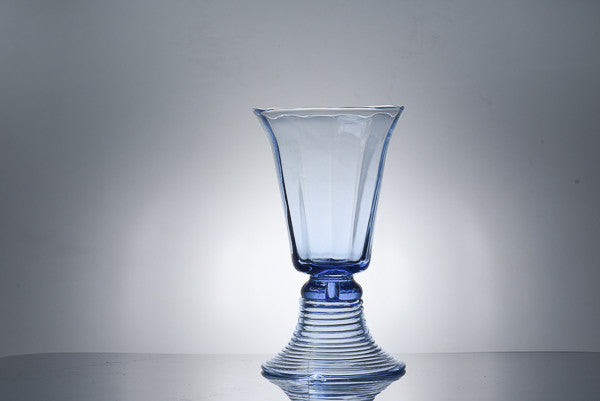 light blue bohemian handblown glassware