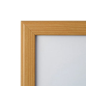 Light Wood snap frame poster size 22x56 - 1.25 inch profile - Snap Frames Direct