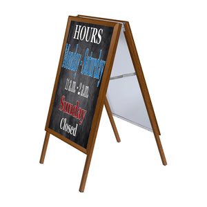 Light Wood sidewalk sign poster size 24X30 - 1.25 inch profile - Snap Frames Direct
