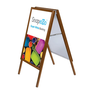 Light Wood sidewalk sign poster size 24X36 - 1.25 inch profile - Snap Frames Direct