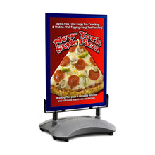Load image into Gallery viewer, Blue sidewalk sign with sand/water-filled base for poster size 22X28 - 1.7 inch profile - Snap Frames Direct