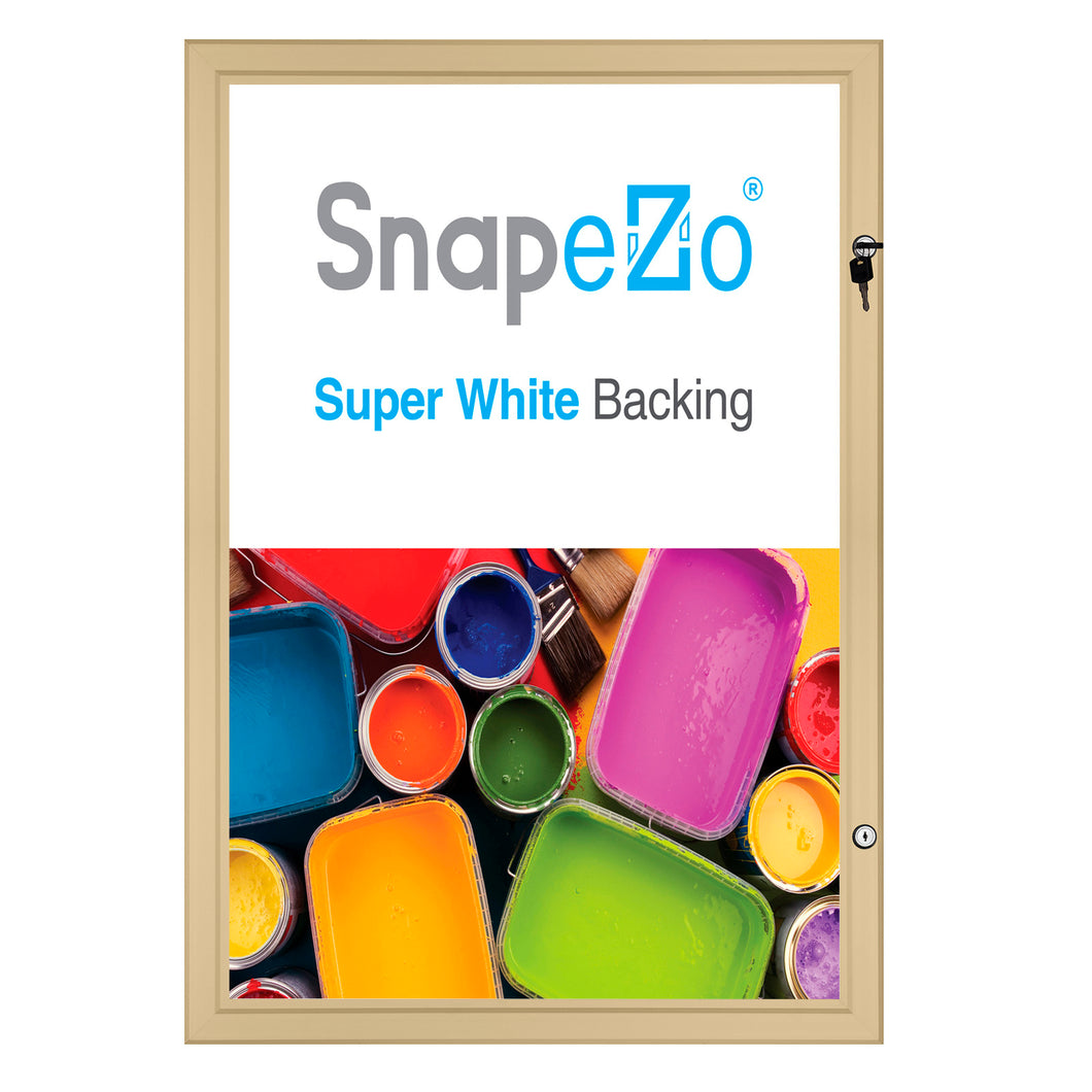 30x40 Gold SnapeZo® Poster Case - 1.77