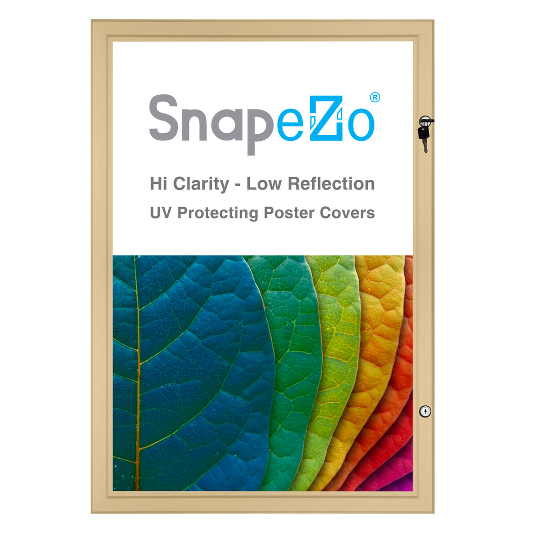 27x41 Gold SnapeZo® Poster Case - 1.77