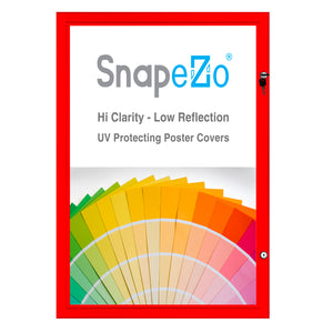"18x24 Red SnapeZo® Poster Case - 1.77"" Profile"
