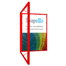 "Load image into Gallery viewer, 18x24 Red SnapeZo® Poster Case - 1.77"" Profile"