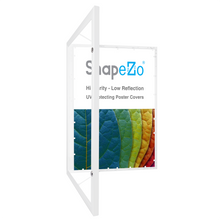 "Load image into Gallery viewer, 18x24 White SnapeZo® Poster Case - 1.77"" Profile"