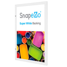 "Load image into Gallery viewer, 24x36 White SnapeZo® Poster Case - 1.77"" Profile"
