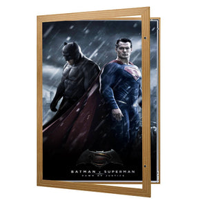 Light Wood poster case  poster size 27x40 - 1.77 inch profile - Snap Frames Direct