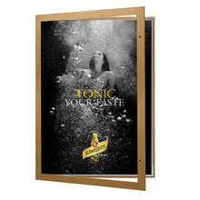 Load image into Gallery viewer, Light Wood poster case  poster size 20x30 - 1.77 inch profile - Snap Frames Direct