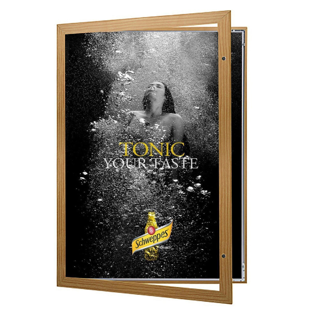 Light Wood poster case  poster size 20x30 - 1.77 inch profile - Snap Frames Direct