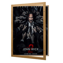 Load image into Gallery viewer, Light Wood poster case  poster size 30x40 - 1.77 inch profile - Snap Frames Direct