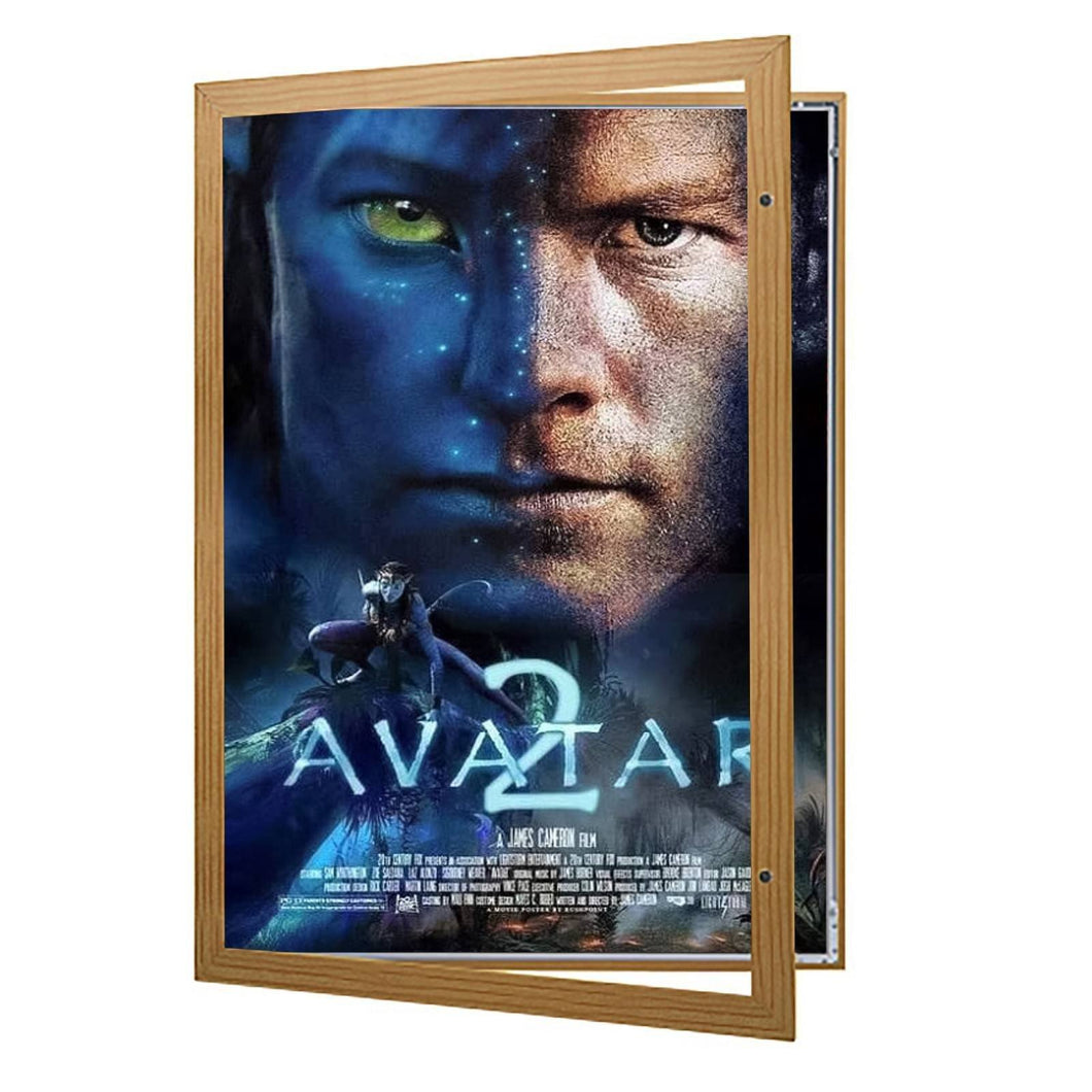 Dark Wood poster case  poster size 24x36 - 1.77 inch profile - Snap Frames Direct