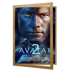 Dark Wood poster case  poster size 30x40 - 1.77 inch profile - Snap Frames Direct