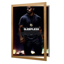 Load image into Gallery viewer, Dark Wood poster case  poster size 27x41 - 1.4 inch profile - Snap Frames Direct