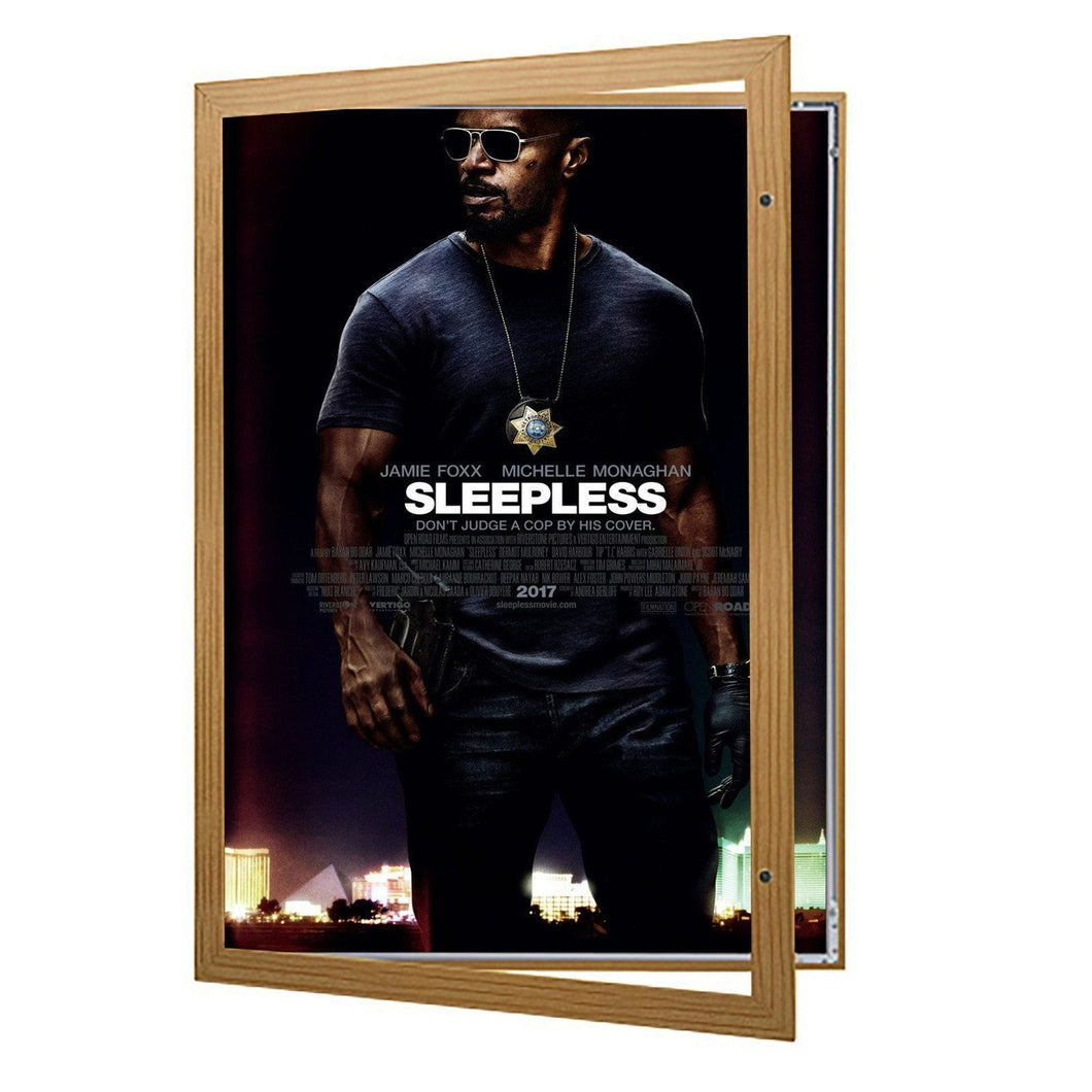 Dark Wood poster case  poster size 27x41 - 1.4 inch profile - Snap Frames Direct